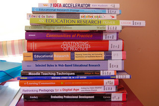 Pile of research books