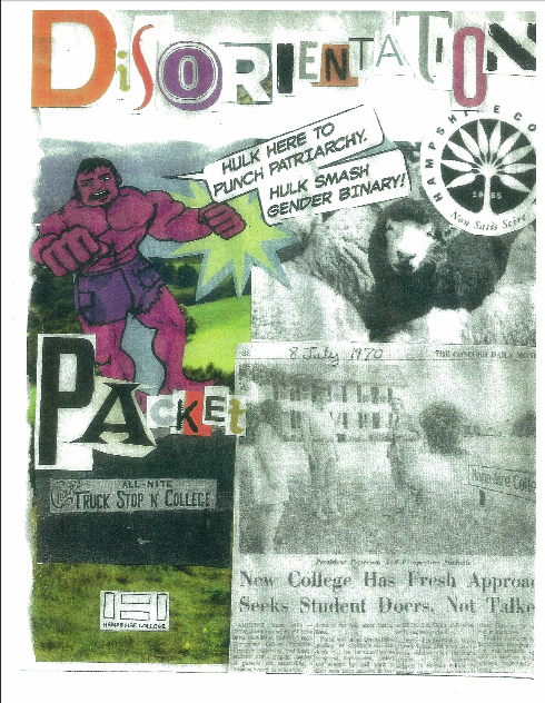 Cover of the Hampshire Disorientation Packet