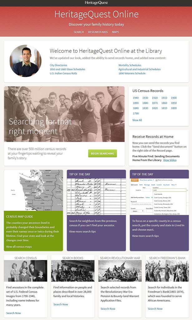 HeritageQuest Screen