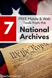 7 free mobile and web tools from the National Archives