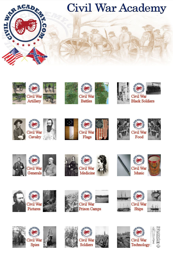 View the civil war academy webpage