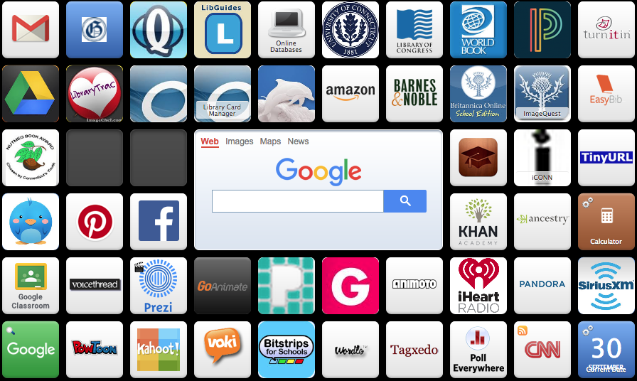 Access the library Symbaloo