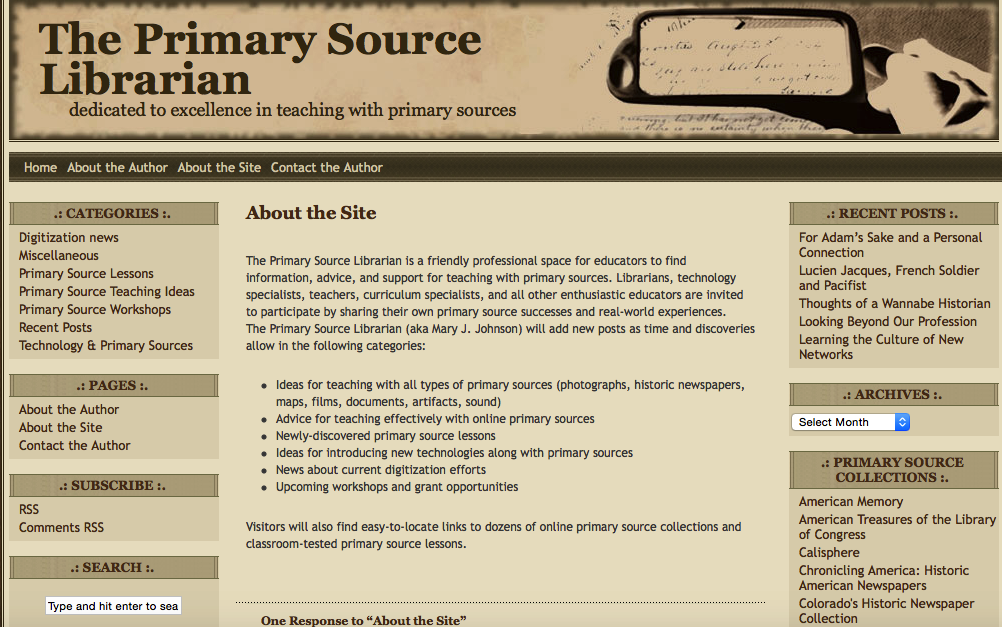 Primary sources on iTunes