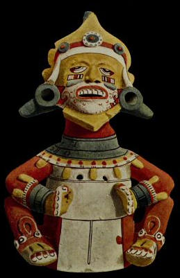 Painted Clay Image of the God Macuil Xochitl (Five Flower), from Teotitlan Del Camino. Bureau of American Ethnology Bulletin 28. Serial Set volume 4896.