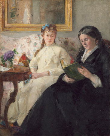 Berthe Morisot's Painting The Mother and Sister of the Artist