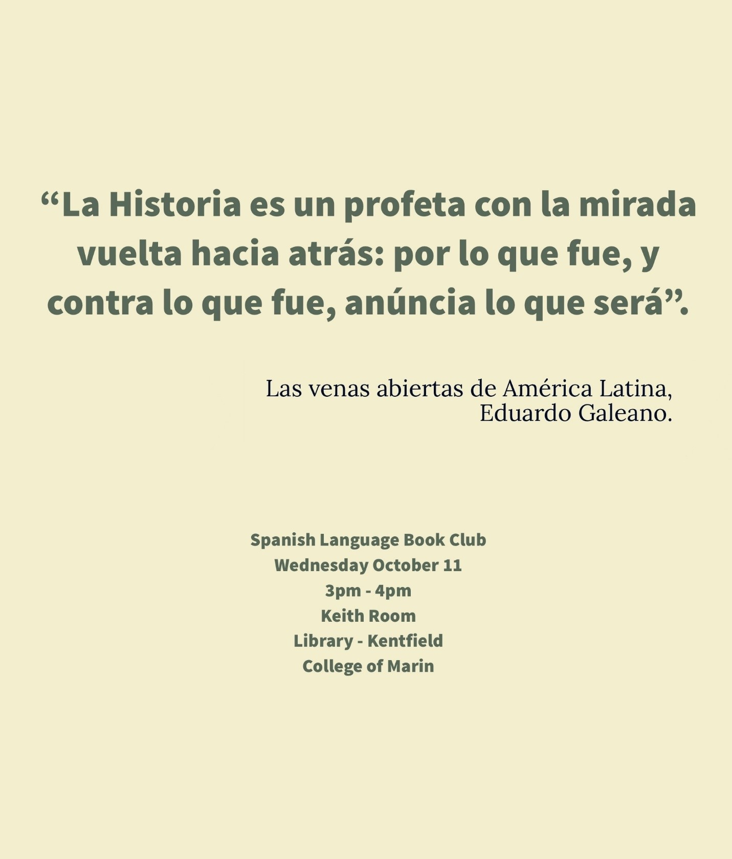 Spanish Language Book Club Details