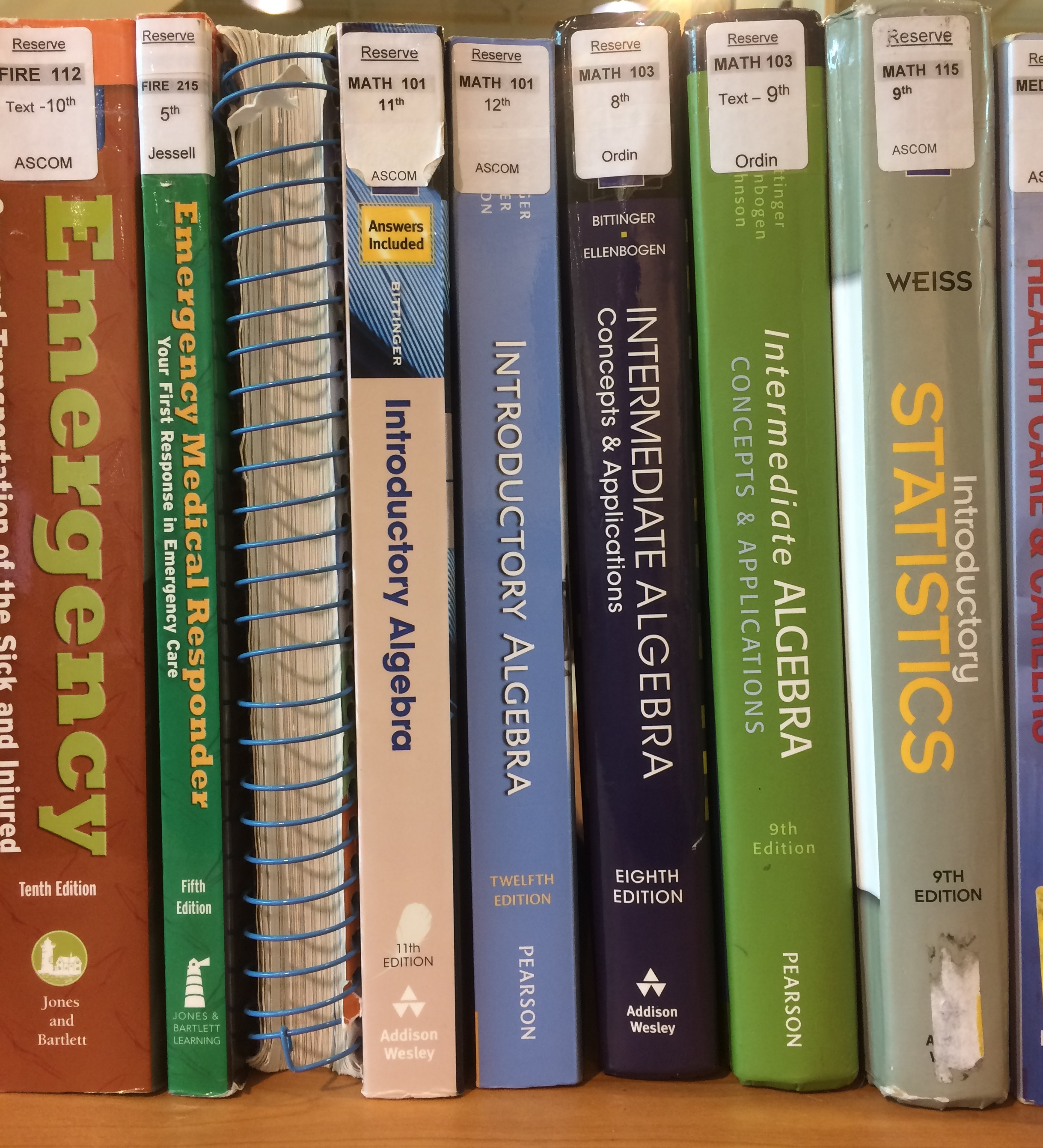 Picture of Textbooks at IVC Library
