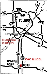 Map to preservation lab