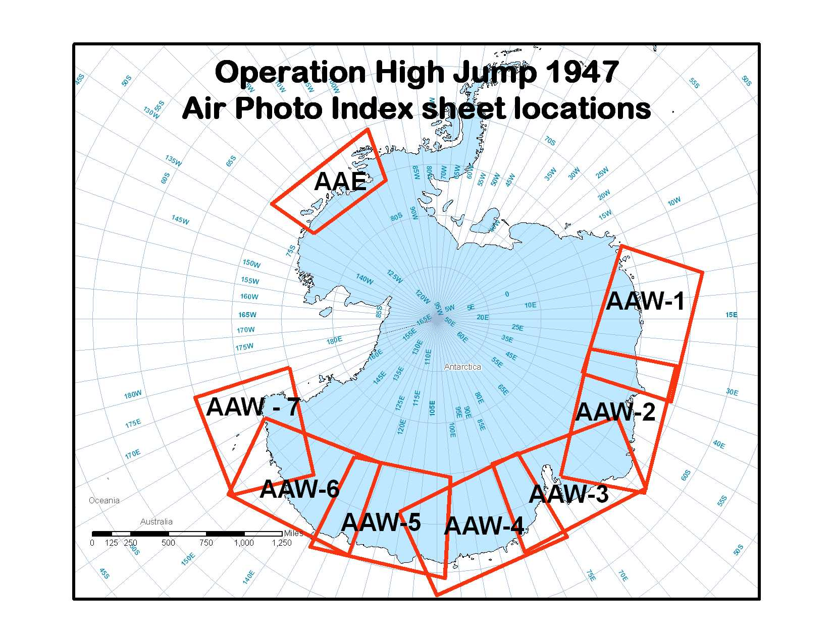 Operation Highjump airphoto index map