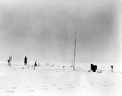 "Photograph of ""Little America"" research base in Antarctica 1948"