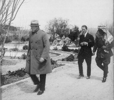 Churchill, Lawrence, and Abdullah, 1921