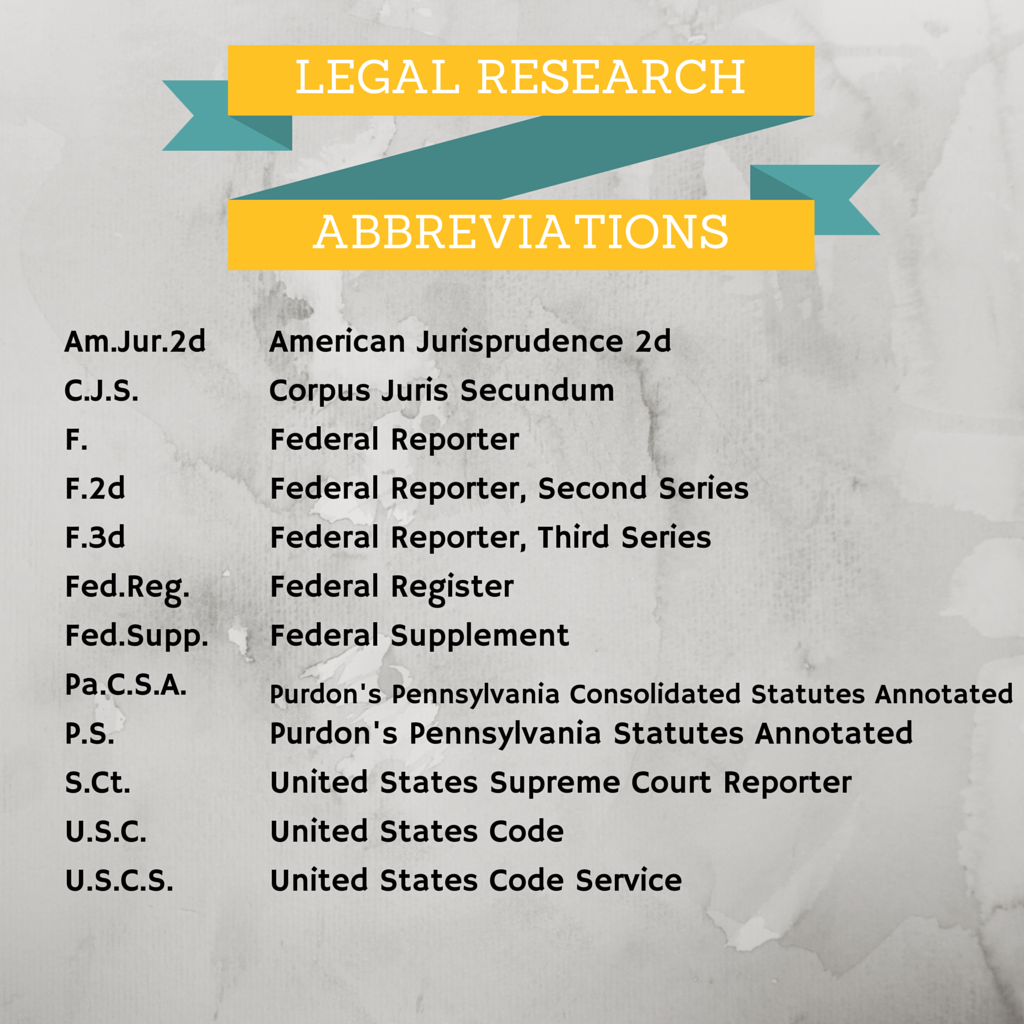 Legal Research Abbreviations!
