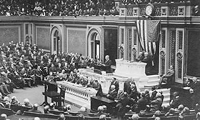 Wilson addressing Congress