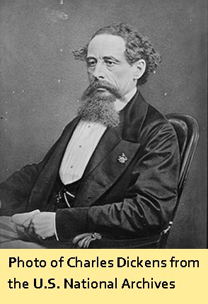 Photo of Charles Dickens from the U.S. National Archives