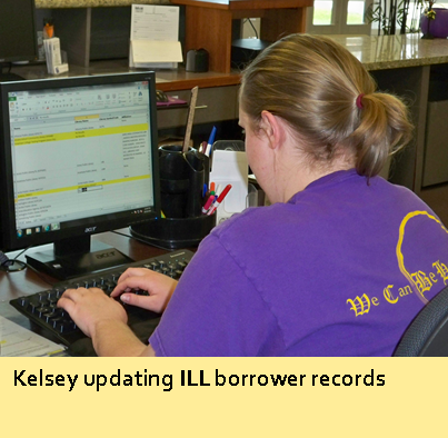 Kelsey updating ILL borrower records
