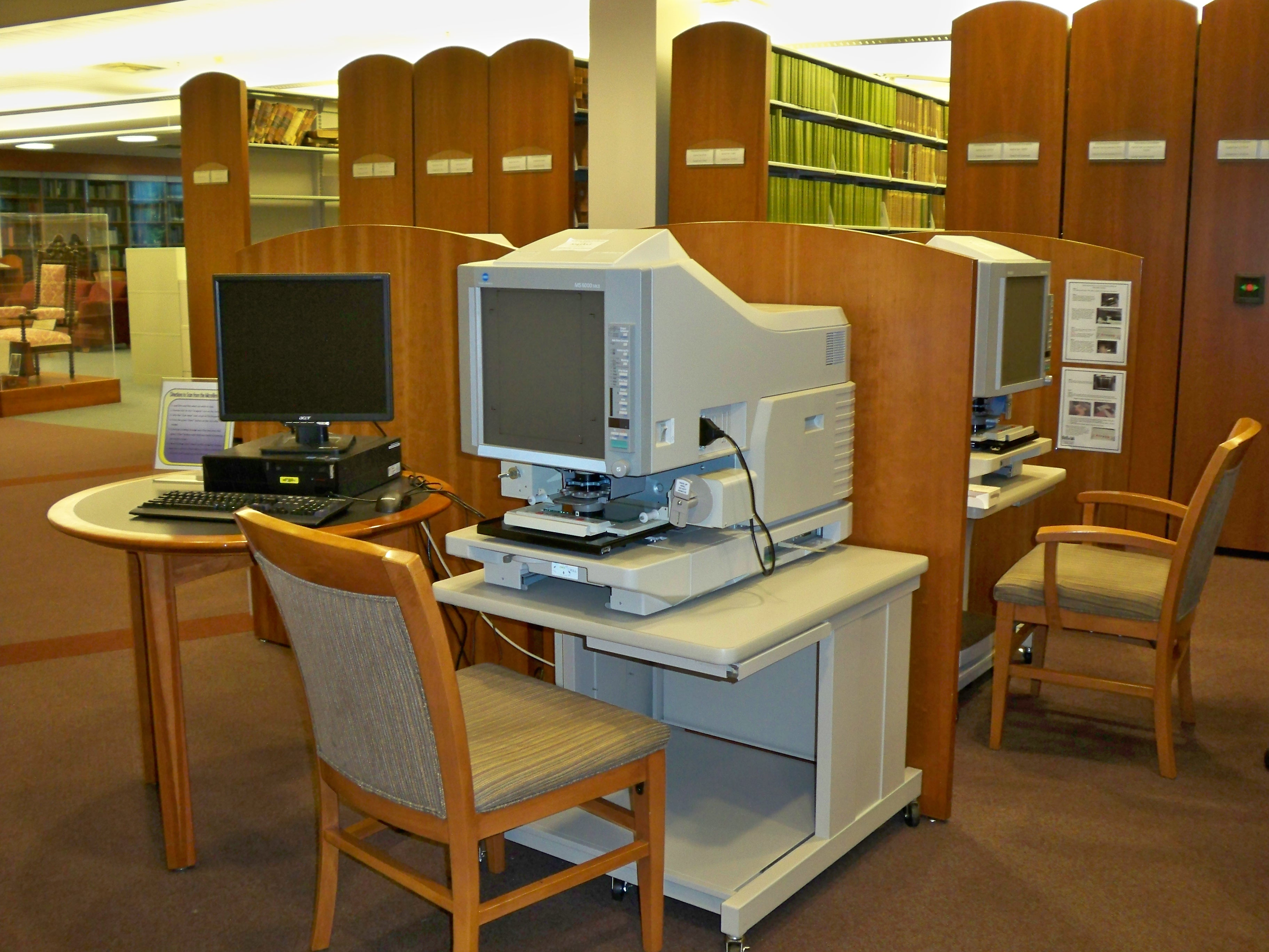 picture of microfilm reader/printer