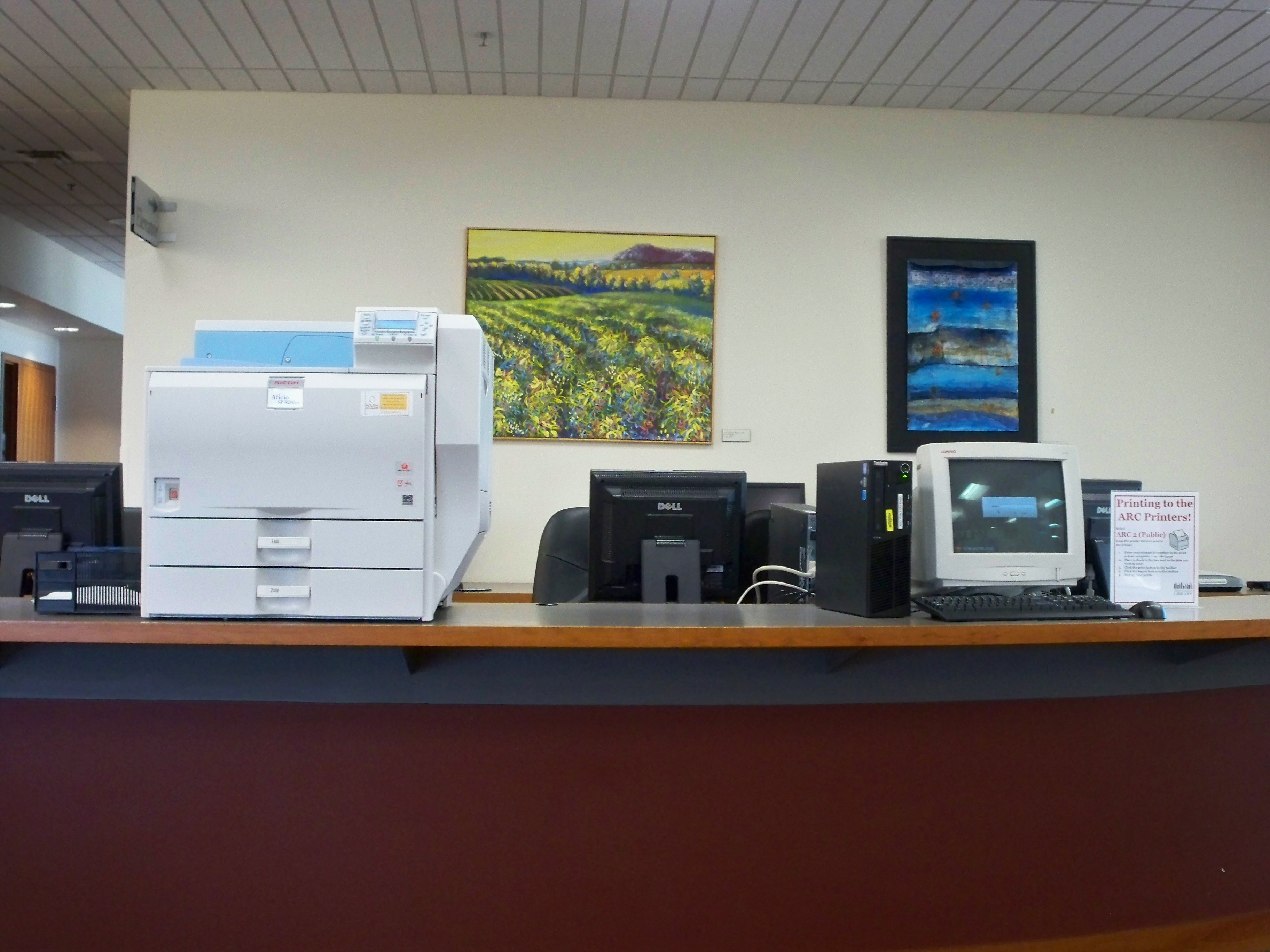 picture of public printer
