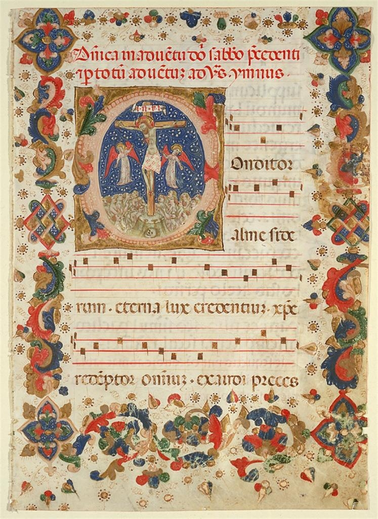Page from a Hymnal or Psalter