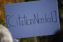 "Sign reading ""Citation Needed"""