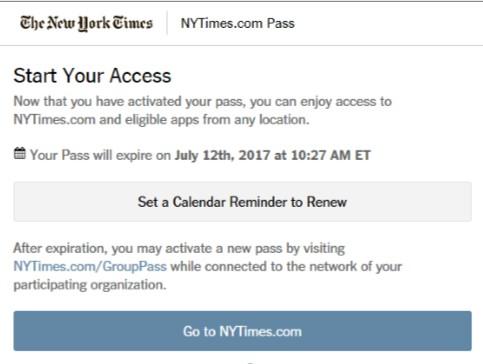 NY Times Access Granted