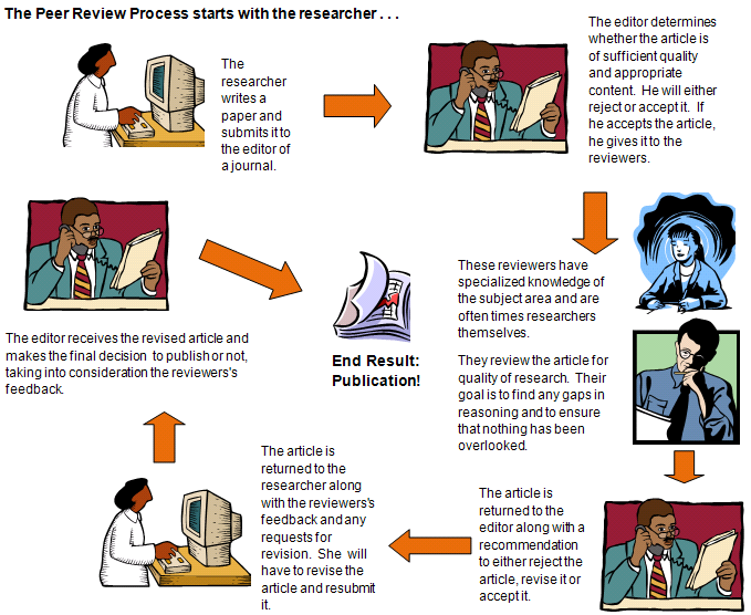 infographic describing the peer review process
