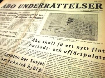 Sanomalehti Åbo Underrättelser.