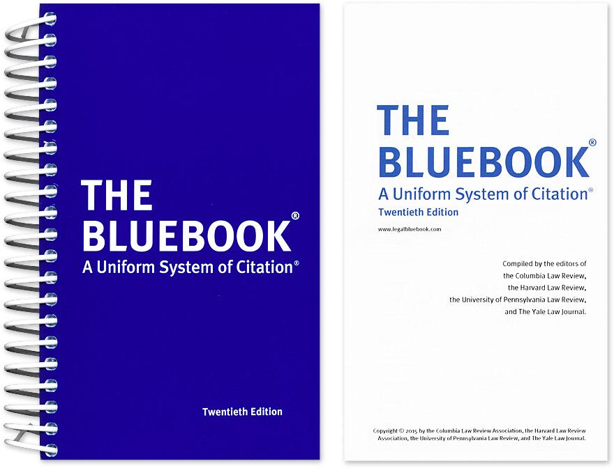 Bluebook cover