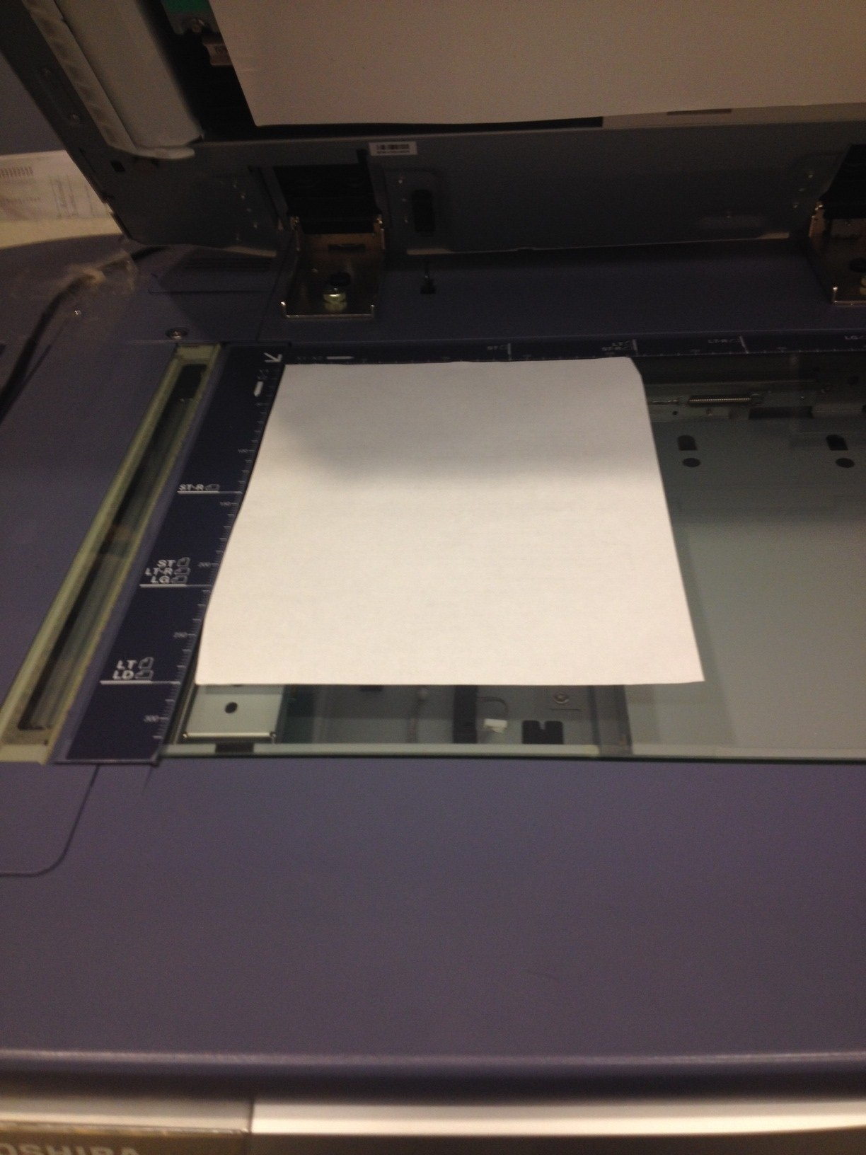 Document placement for scanning