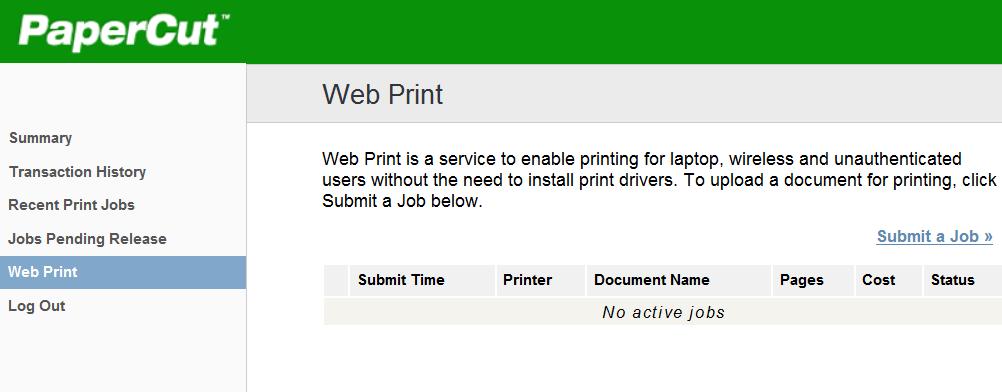 Web Print Menu