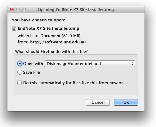 Endnote installer