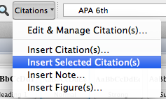 Insert Selected Citations