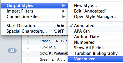 Editing Vancouver Output Style