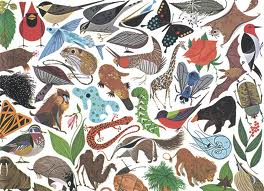Mosaic of animal images