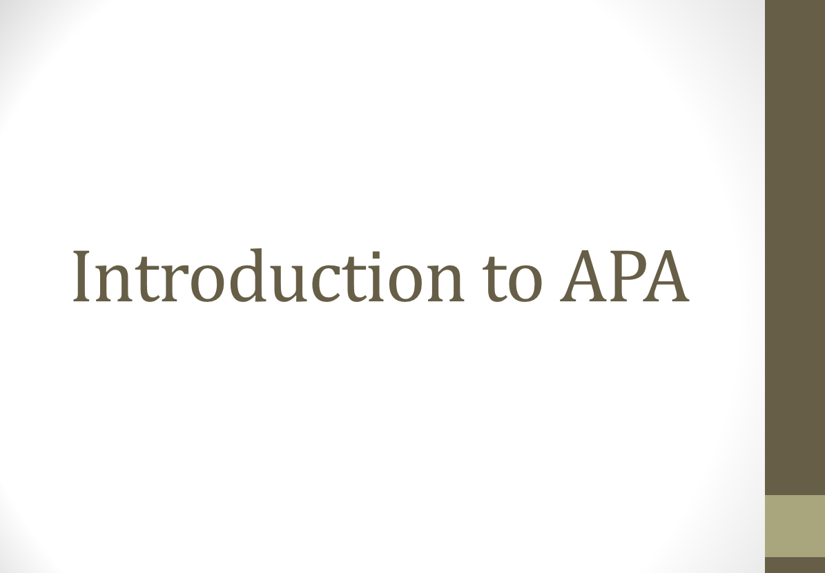 """Cover image of the video tutorial for """"Introduction to APA"""""""