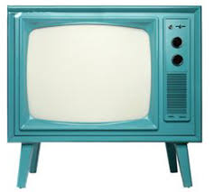 blue retro TV set