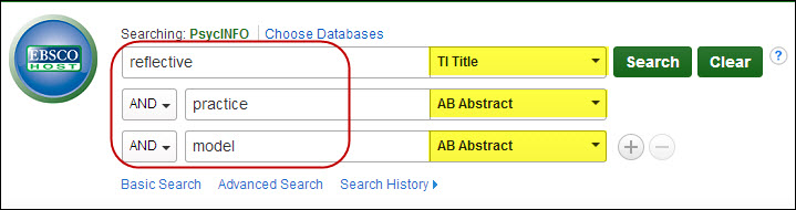 Example search in PsycINFO