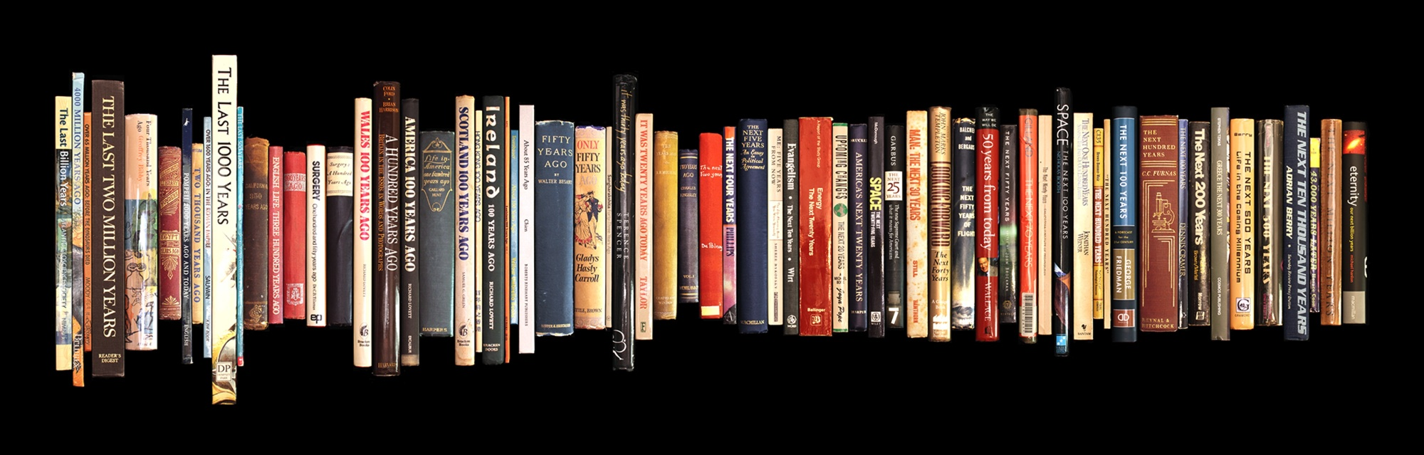Image of books lined up.