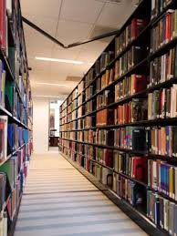 Image of library stacks.