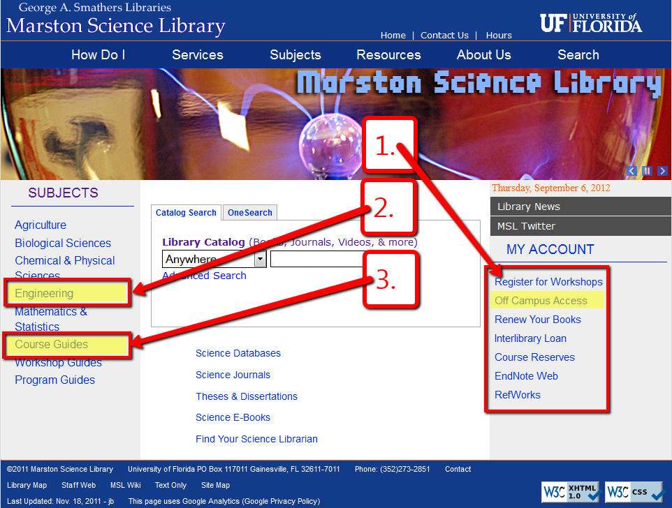Science Library Homepage