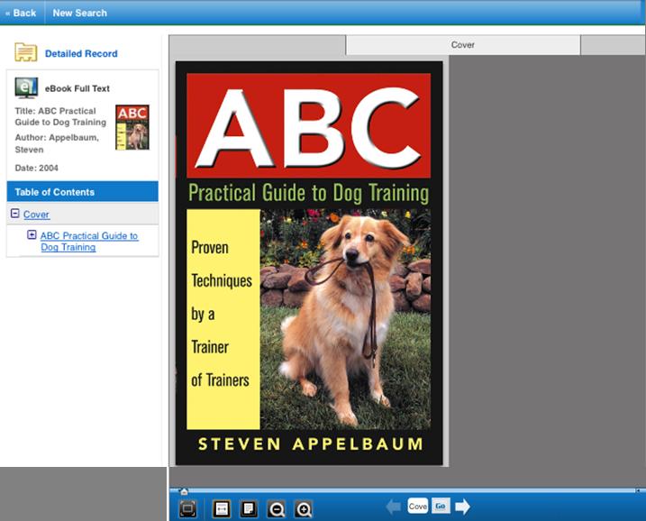 EBSCO eBook viewer