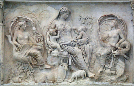 Tellus Panel, eastern facade of the Ara Pacis