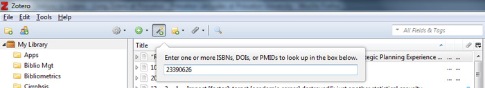 Add PMID to Zotero