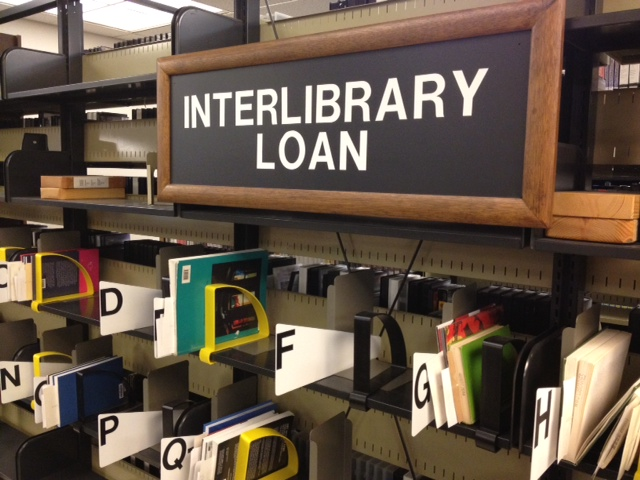 Interlibrary Loan sign