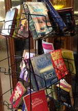 rack of books