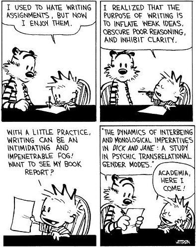 Calvin and Hobbes literary criticism
