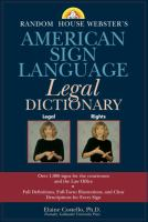 ASL Legal Dictionary