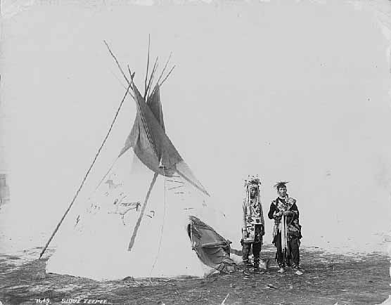 Sioux tepee, 1895.