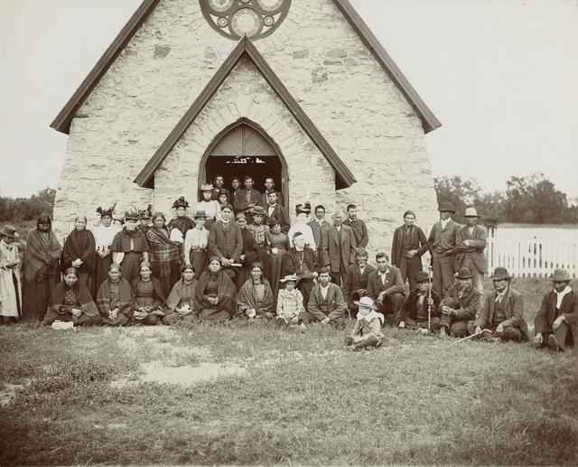 Bishop Whipple and others at St. Cornelia's Church, Morton, 1895.