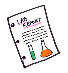 Lab report clip-art