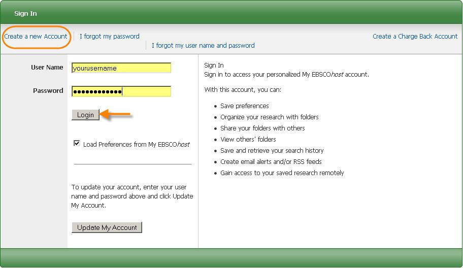 Account Access Screen